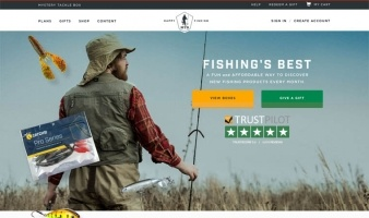 eCommerce website: Mystery Tackle Box