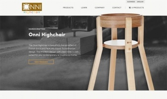 eCommerce website: Onni Highchair