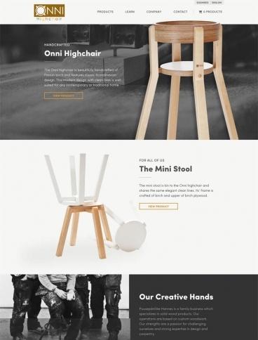 eCommerce website: Onni Highchair