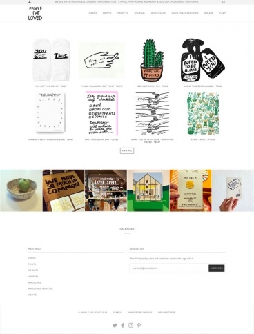 eCommerce website: People I've Loved