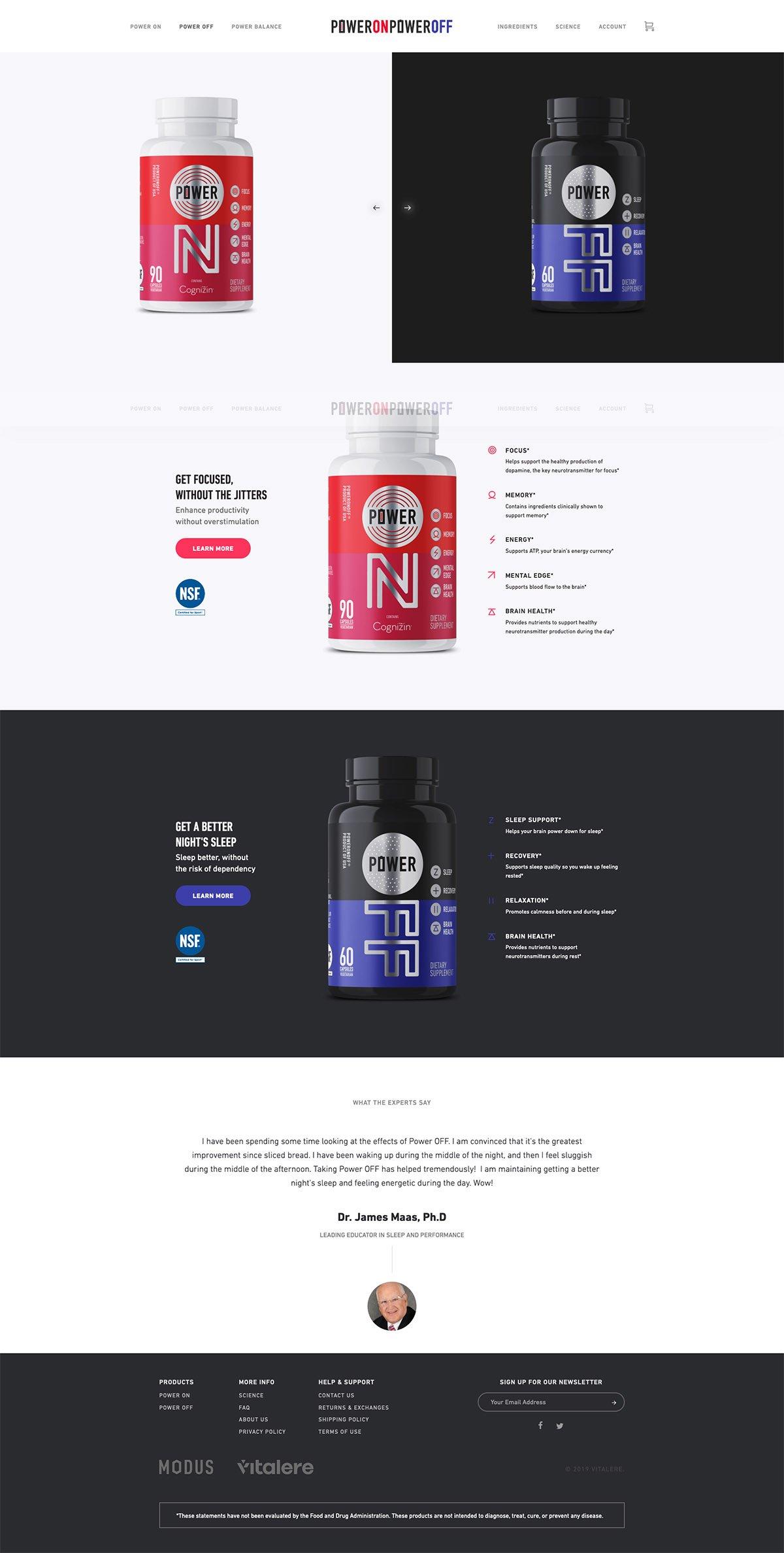 eCommerce website: Modus Nutrition