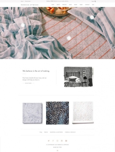 eCommerce website: Rebecca Atwood Designs