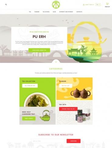 eCommerce website: TeaLao
