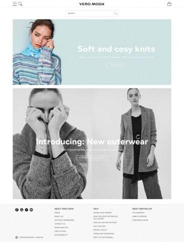 eCommerce website: Vero Moda