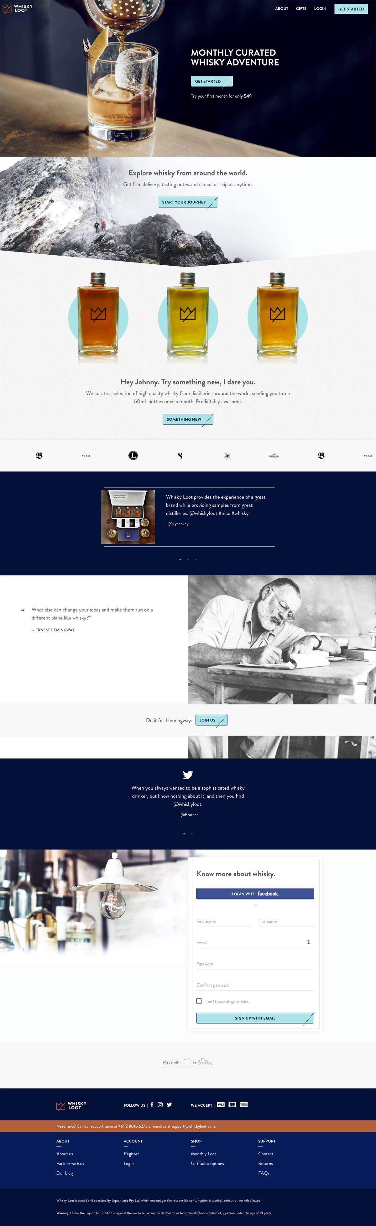 eCommerce website: Whisky Loot