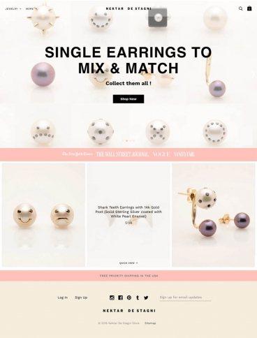 eCommerce website: Nektar De Stagni