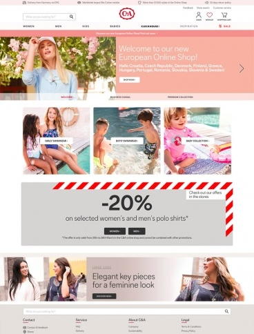eCommerce website: C&A