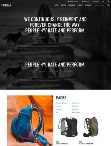 eCommerce website: CamelBak