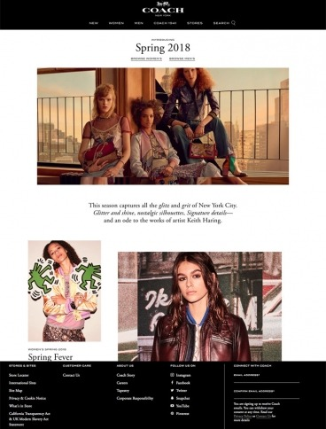 eCommerce website: Coach