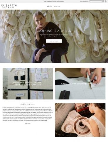eCommerce website: Elizabeth Suzann