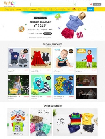 eCommerce website: Firstcry