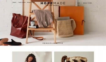 eCommerce website: HOPE MADE