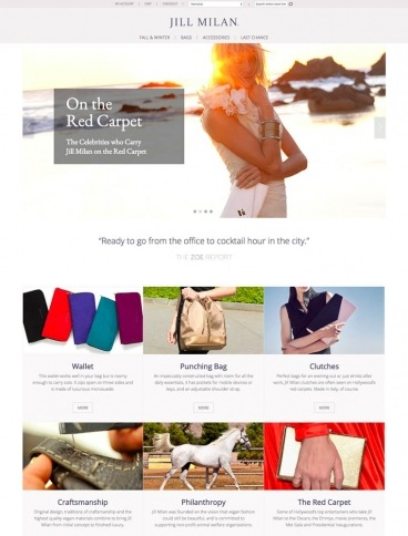 eCommerce website: Jill Milan