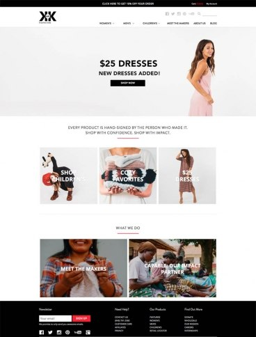 eCommerce website: Krochet Kids intl.