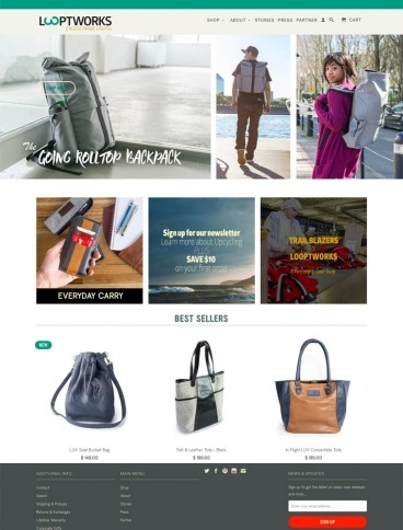 eCommerce website: LOOPTWORKS