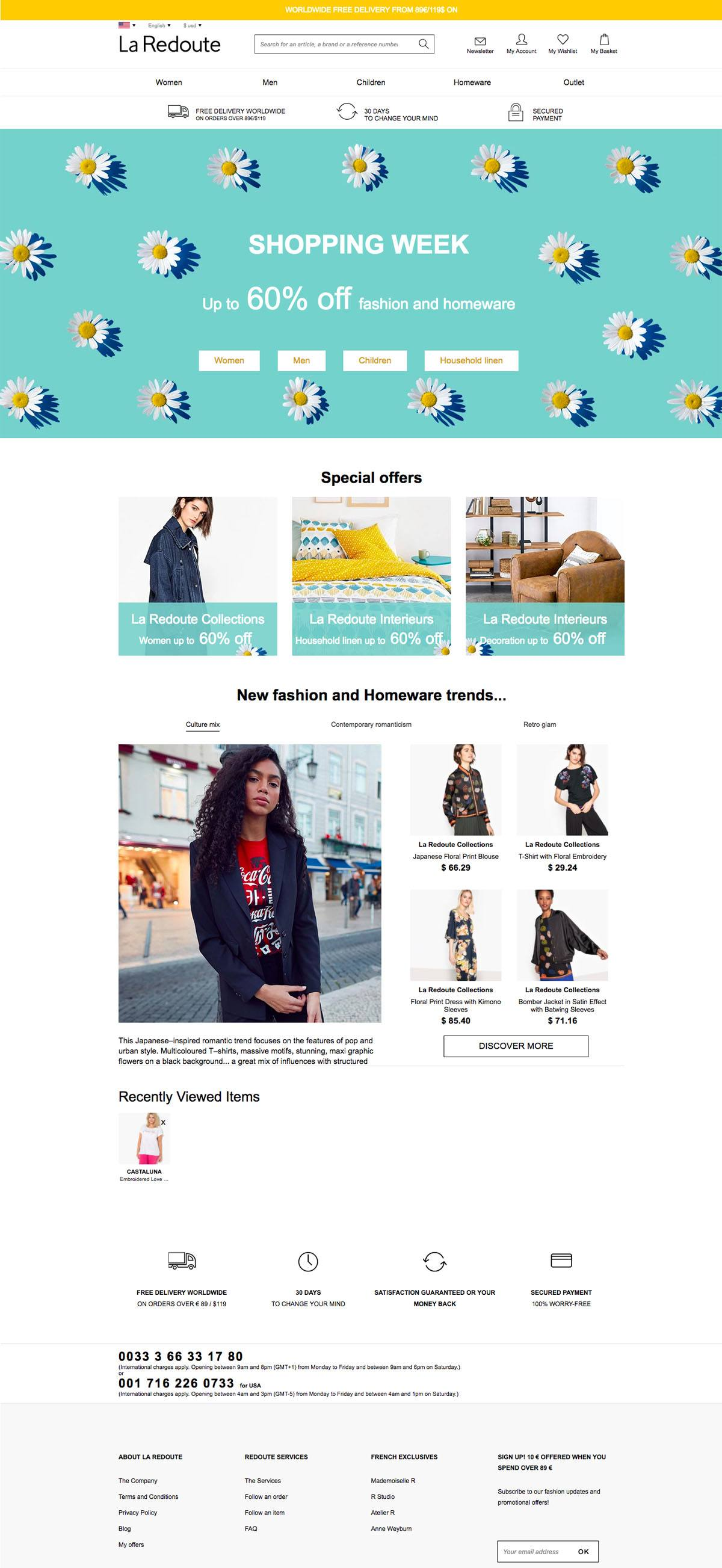 La Redoute Ecommerce Website Design Gallery Tech Inspiration
