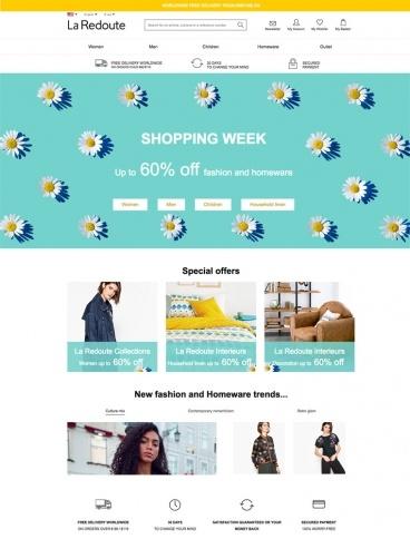 eCommerce website: La Redoute