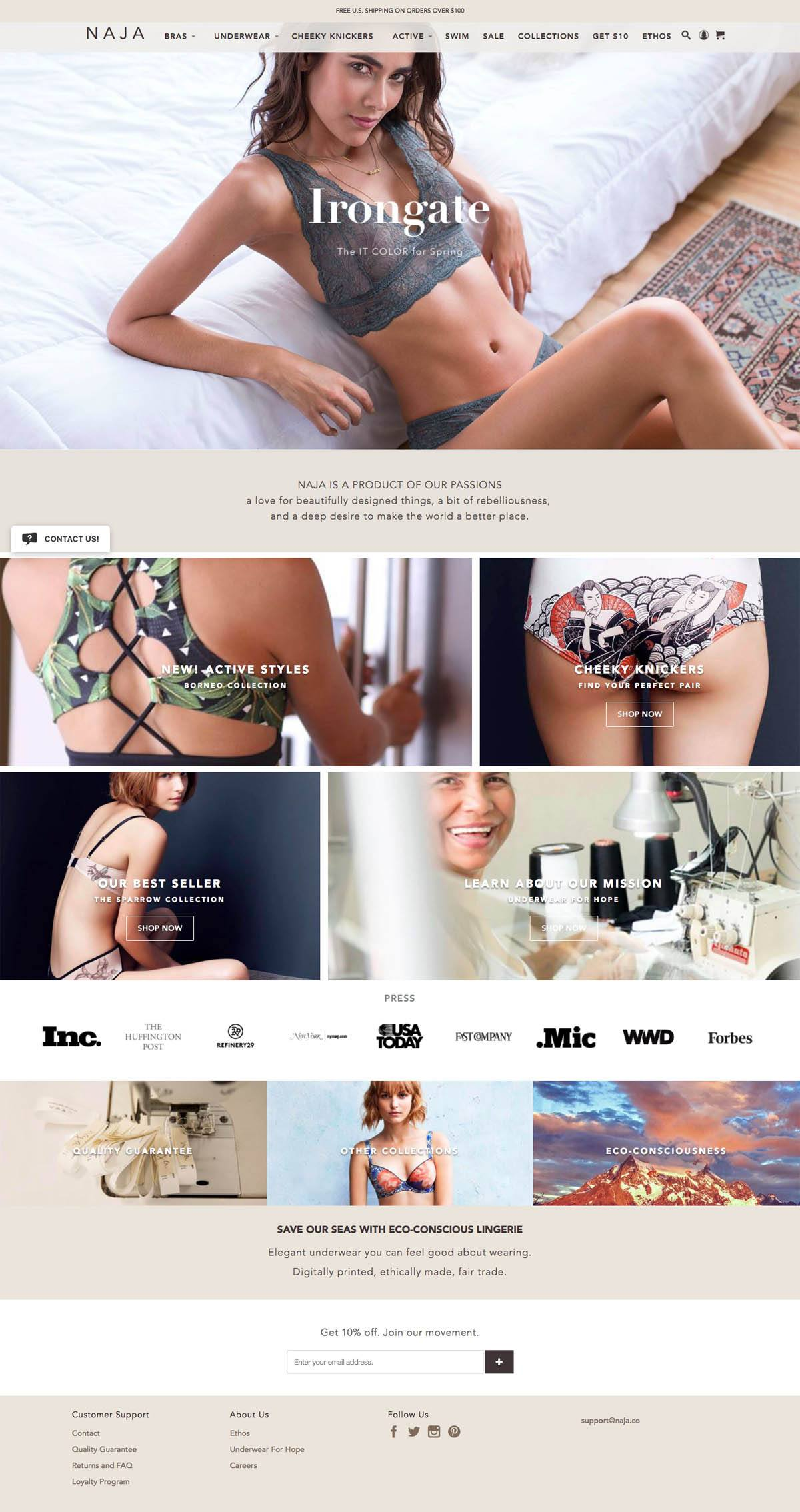 eCommerce website: Naja