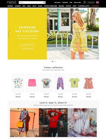 eCommerce website: Next
