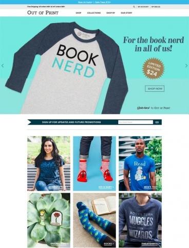 eCommerce website: Out of Print
