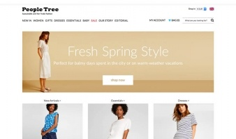 eCommerce website: People Tree