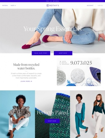 eCommerce website: ROTHY'S