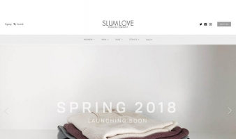 eCommerce website: Slumlove Sweater Co.