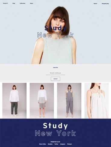 eCommerce website: Study NY