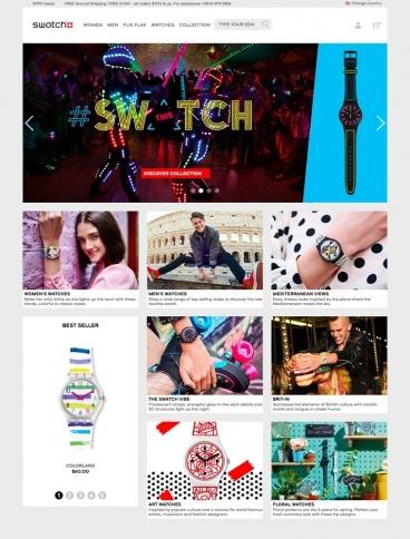 eCommerce website: Swatch