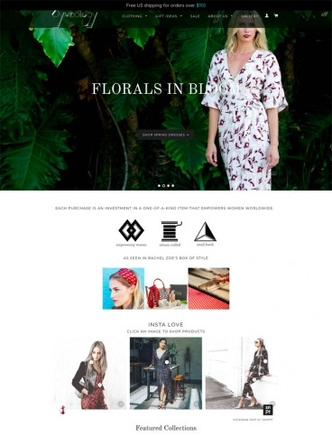eCommerce website: Symbology Clothing
