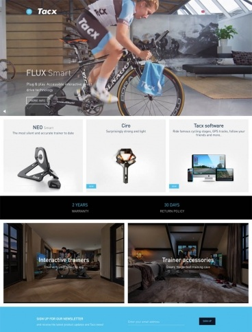 eCommerce website: Tacx