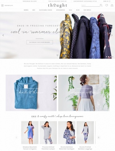 eCommerce website: Thought Clothing