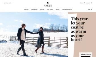 eCommerce website: Vaute