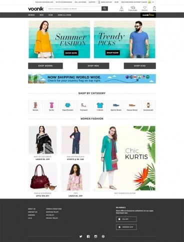 eCommerce website: Voonik