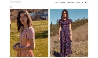 eCommerce website: Christy Dawn