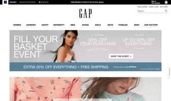 eCommerce website: Gap