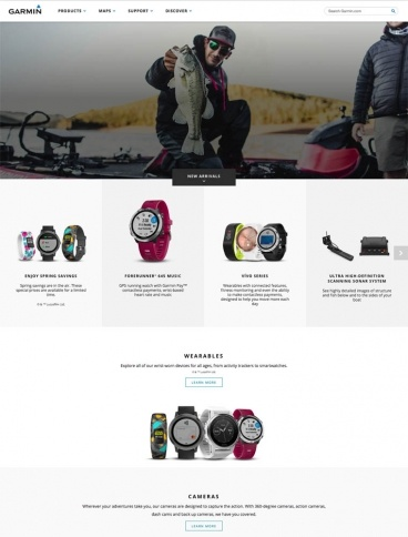 eCommerce website: Garmin