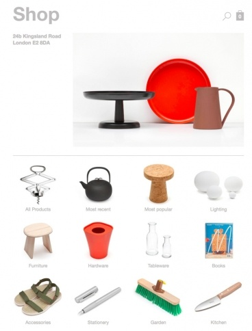 eCommerce website: Jasper Morrison Shop