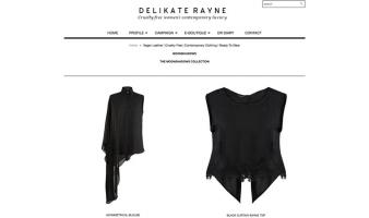 eCommerce website: Delikate Rayne