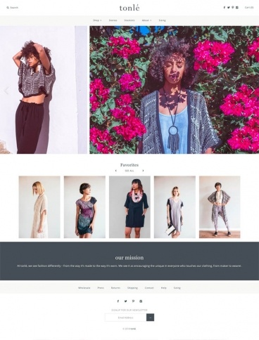 eCommerce website: tonlé