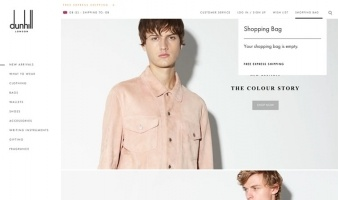 eCommerce website: Alfred Dunhill