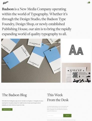eCommerce website: Badson