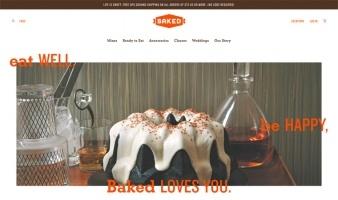 eCommerce website: Baked