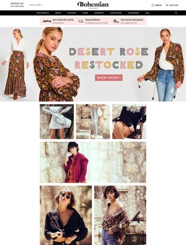 eCommerce website: Bohemian Traders