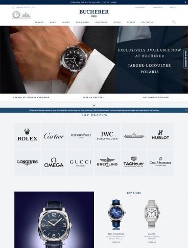 eCommerce website: Bucherer