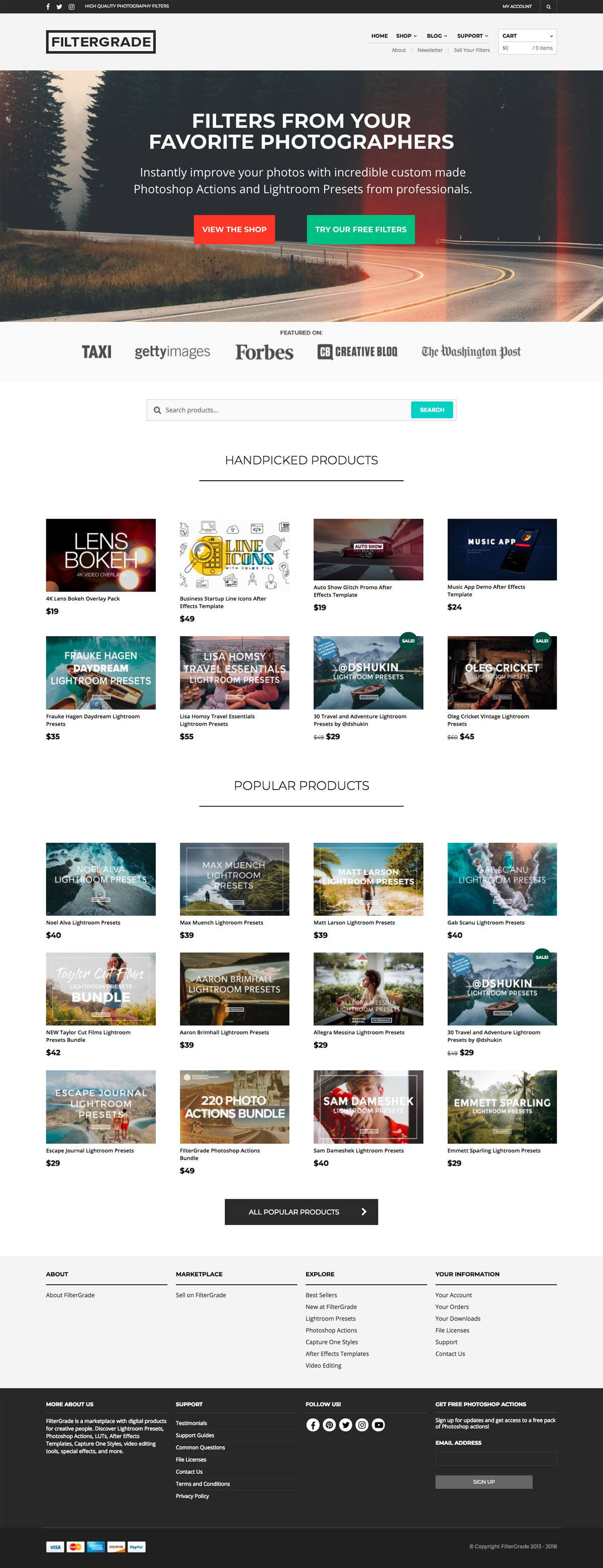 eCommerce website: FilterGrade