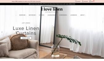 eCommerce website: I Love Linen