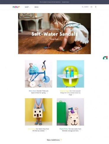 eCommerce website: KIDLY