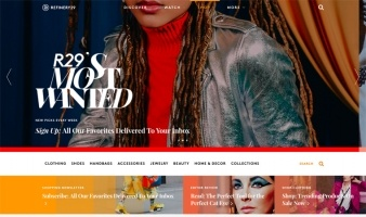 eCommerce website: Refinery29