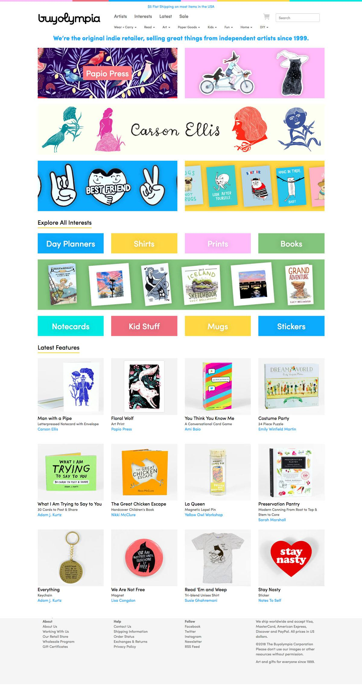 eCommerce website: buyolympia